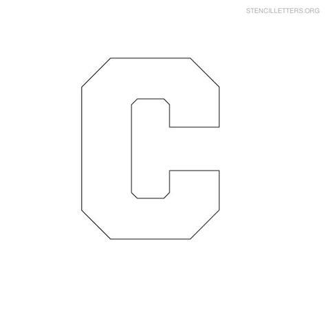 block letter template free print free stencil letters c c stencils