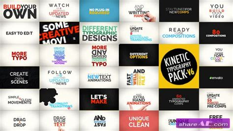 Kinetic Typography Pack V 6 7224203 After Effects Project Videohive 187 Free After Effects Free After Effects Typography Templates