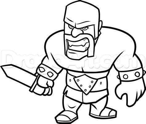 imagenes satanicas en clash of clans how to draw clash of clans barbarian step 14 crafts