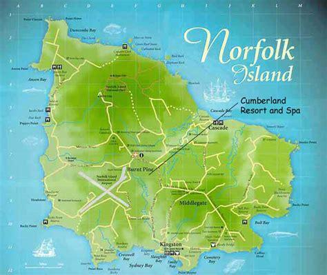 norfolk island map holidays in norfolk island tourism norfolk island australia