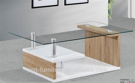 glass center table modern wood center table for living room with glass top