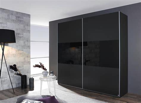 kleiderschrank schwarz schiebetüren kleiderschrank schrank schlafzimmer grau metallic glas