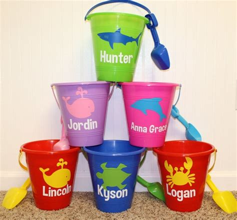crown craft bucket large personalized sand bucket with shovel par