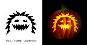 Easy Pumpkin Carving Templates by Free Simple Easy Pumpkin Carving Stencils Patterns For