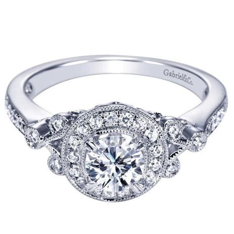 78ctw vintage style halo engagement ring
