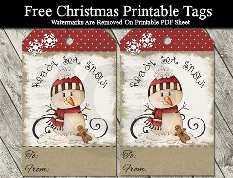 printable snowman tags diy free printable cartoon christmas tags