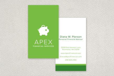 financial planning services business card template inkd