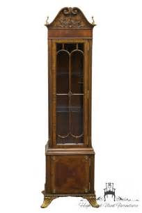 Used Curio Cabinets With Lights Maitland Smith 22 Mahogany Lighted Display Curio Cabinet