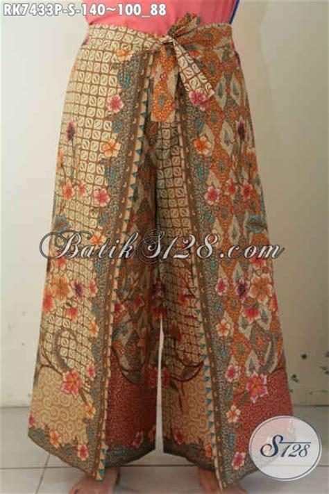 Celana Kulot Model Terbaru Katun B30417003mot5mrh Bawahan Batik Lucu celana batik model kulot busana bawahan wanita desain