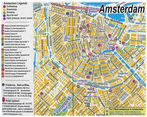 tourist map of central maps of amsterdam detailed map of amsterdam in maps of amsterdam netherlands
