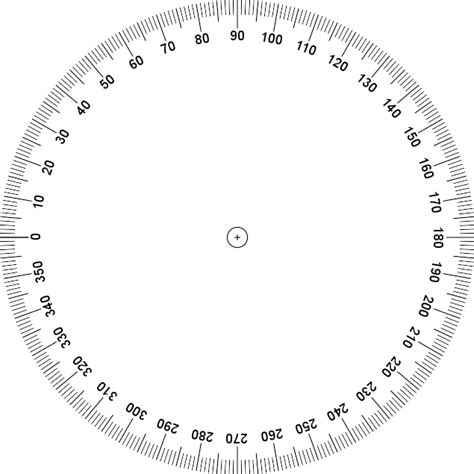 printable 360 degree protractor clipart best