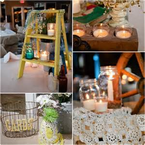 Vintage Country Decor by Country Wedding With Vintage Decorations Rustic
