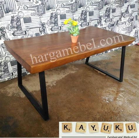 Meja Besi meja cafe kaki besi mebel jepara furniture minimalis