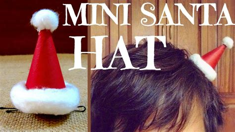 How To Make A Santa Hat Out Of Paper - how to make a santa hat hair clip diy gifts