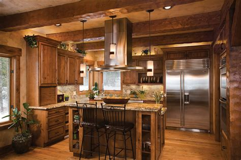 house plans with open kitchen log home living