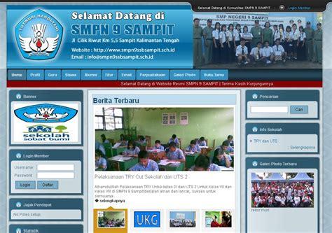 tutorial desain web sekolah contoh website sekolah smp contoh website sekolah mts