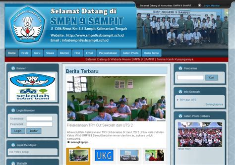 contoh web design dengan html contoh website sekolah smp contoh website sekolah mts