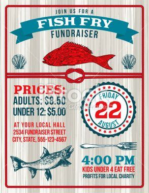 Fish Fry Fundraiser Template With A Nautical Theme There Are Fish Fish Fry Vector Art And Free Fish Fry Flyer Template