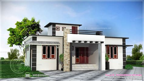 mansions designs 1060 square feet one storied house kerala home design