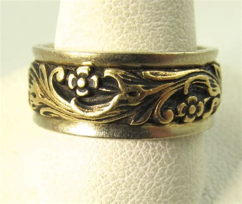 Carved Flower Rings 2 by Artcarved Carved 14k White Yellow Gold Flower Wedding