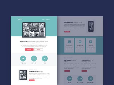 37 elegant free one page psd website templates utemplates