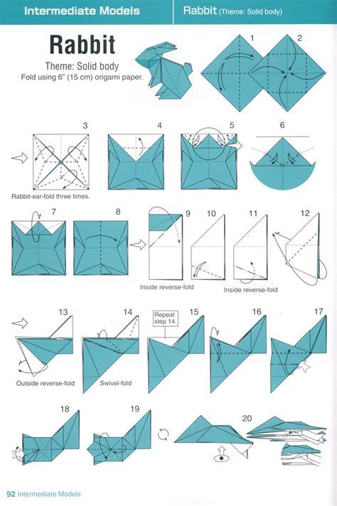Origami Animals Intermediate - 종블 종이접기블로그 토끼 종이접기 그림 도안