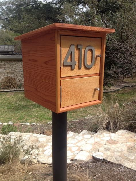Handmade Mailbox - custom made modern mailbox by hill haus woodworks