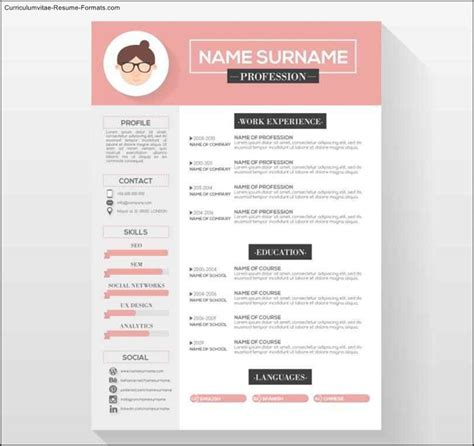 interesting resume formats creative resume templates free sles exles