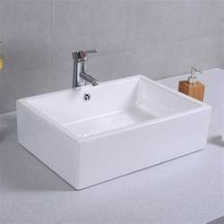 20 bathroom sink 20 quot ceramic bathroom sink rectangle vessel bath deck mount