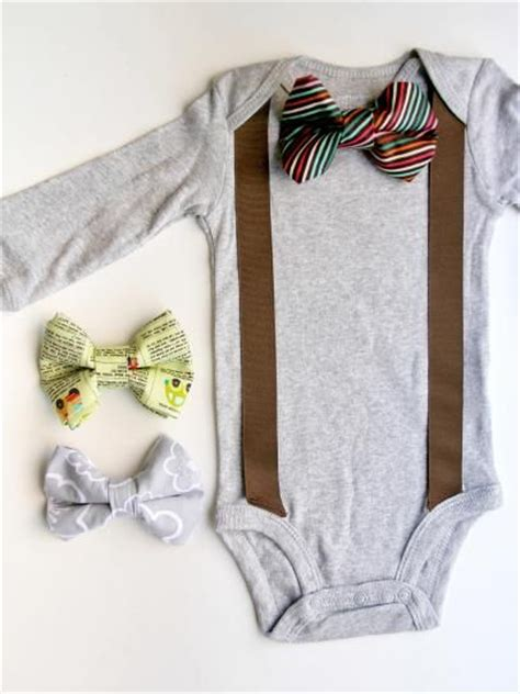 diy baby onesie with a bow tie card template how to add a bow tie and suspenders to a baby onesie