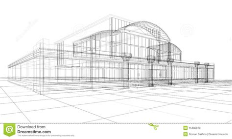 sketch of office building stock photo image 15485870