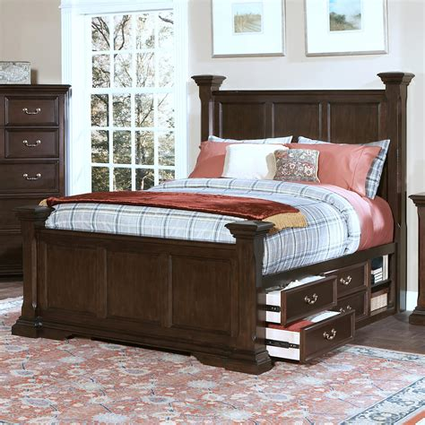 captains bed king new classic timber city california king captain s bed with