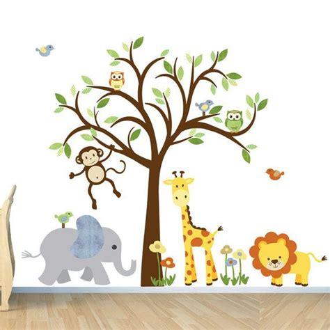 room wall decal safari animal decal nursery wall