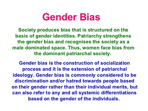 Letter Of Recommendation Gender Bias essay on gender bias in society editpaper web fc2
