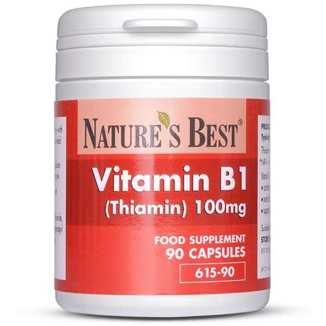 Vitamin B1 Vitamin B1 Thiamine Tablets 100mg Nature S Best