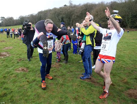 10 Couples Who Raced Up The Aisle by Couples Battle In Surrey S 10th Uk Carrying Race