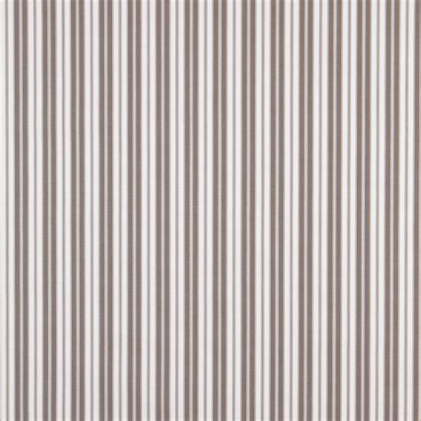 Striped Upholstery Fabrics by Grey Ticking Striped Indoor Outdoor Upholstery Fabric By