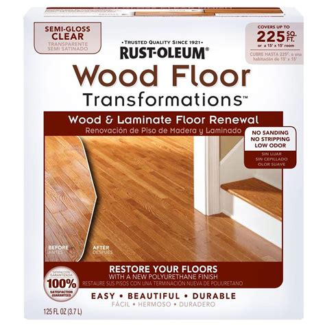rust oleum transformations floor wood  laminate renewal kit   home depot