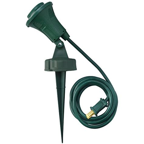 yard stake flood lights woods 430 6 foot 18 2 sjtw flood light with stake green insect zappers patio and
