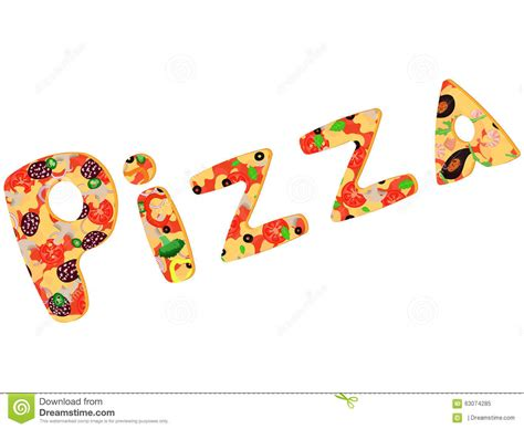 Letter Pizza Letters Of Pizza Stock Vector Image 63074285