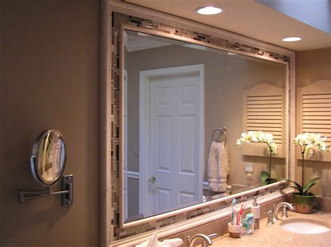 framed bathroom mirror ideas for bathroom mirrors fancy frame idea decosee com