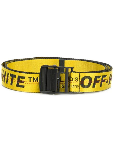 Reps White C O Virgil Abloh Industrial Belt 150 Cm With D Ring lyst white c o virgil abloh quot industrial quot belt in yellow for