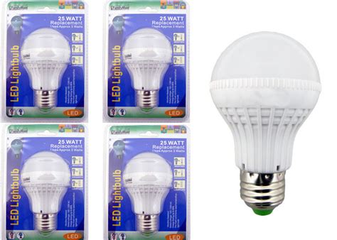 x4 25 watt replacement led light bulbs consumption of