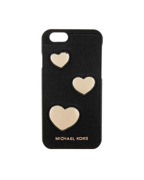 michael kors electronic leather iphone  cover hearts