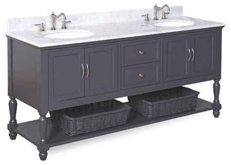 charcoal bathroom vanity beverly bath vanity carrara and charcoal gray 72