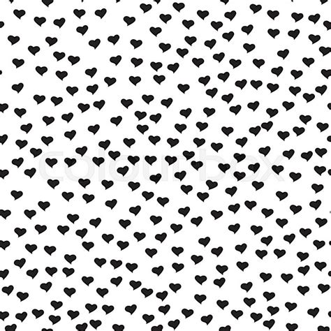 black heart pattern romantic seamless pattern with tiny black hearts abstract