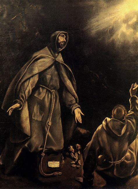 the stigmatization of st francis by greco el