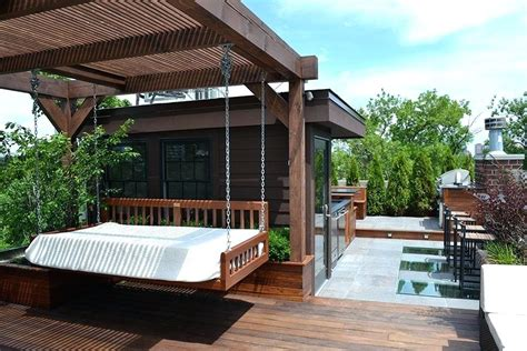 200x220 decke roof deck garden built in benches and planters make a