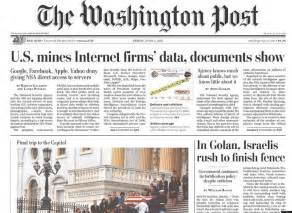 washington post health section washington post began prism story three weeks ago heard