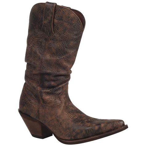 womans boots s crush by durango 174 11 quot slouch boots bourbon